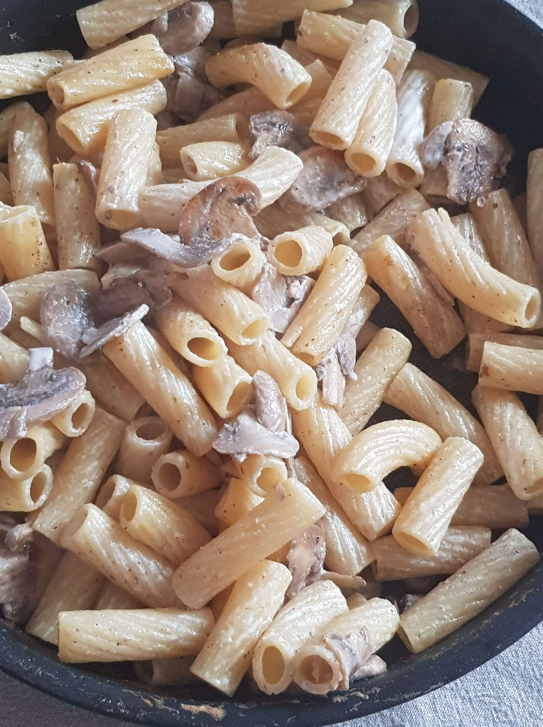 pâtes aux champignons